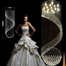 лучшая цена   Modern Crystal Chandelier Pendant Lighting Hanging Ceiling Lamps Fixtures with LED Source Clear K9 Crystal   Free shipping