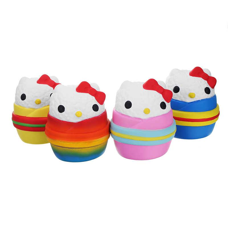 Оригинальная упаковка Onigiri Sushi Jumbo 12 см Angie Squishies прекрасный ароматизированный медленно поднимающийся для детской коллекции подарок Декор Игрушка Прямая поставка