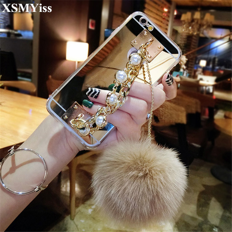 Phone Bags & Cases Charitable Xsmyiss For Samsung A3 A5 A7 J3 J5 J7 2016 2017 Luxury Cute Fur Ball Soft Back Cover Pearl Bracelet Phone Case Pompom Smoothing Circulation And Stopping Pains