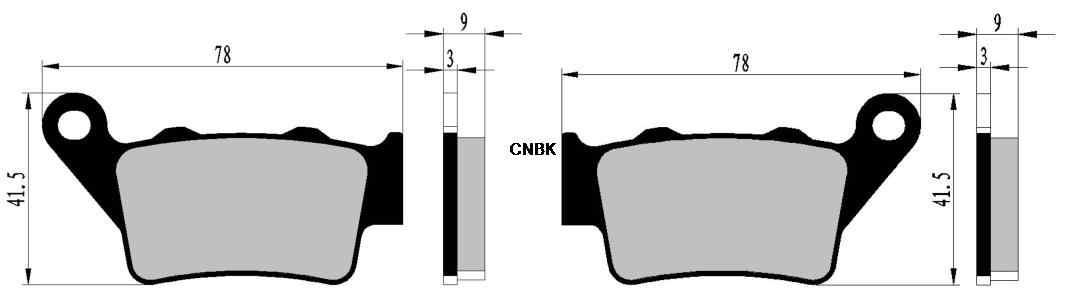 Disc Brake Pads Set fit for HONDA Street NX650 NX 650 Dominator 1997 1998 1999 2000 2001 2002 Front Rear