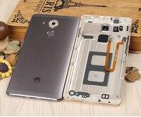לmate Huawei 8 מקורי רשמי חלקי חילוף שיכון מתכת חזור סוללה כיסוי מקרה טלפון עבור Huawei mate8 + טביעות אצבע