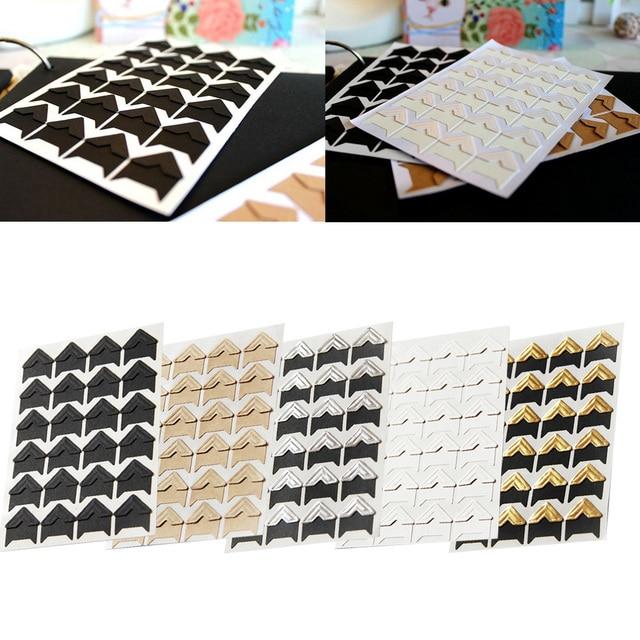 24 шт красочные DIY Фото угловая скрапбукинга многофункциональная бумага фото альбомная рамка украшение изображения ПВХ наклейки