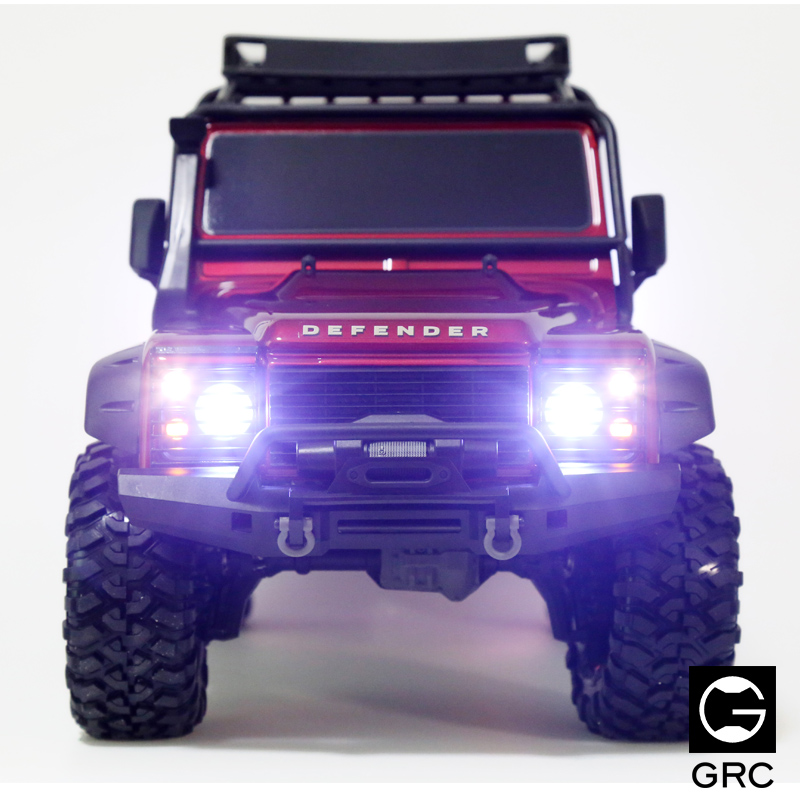 Rc Car Upgrades parts TRAXXAS trx-4 LED Lamp cups lamp shade 17pcs led front rear lights ic lamp group headlight kit for traxxas trx4 rc car parts diy replacement repair accessories