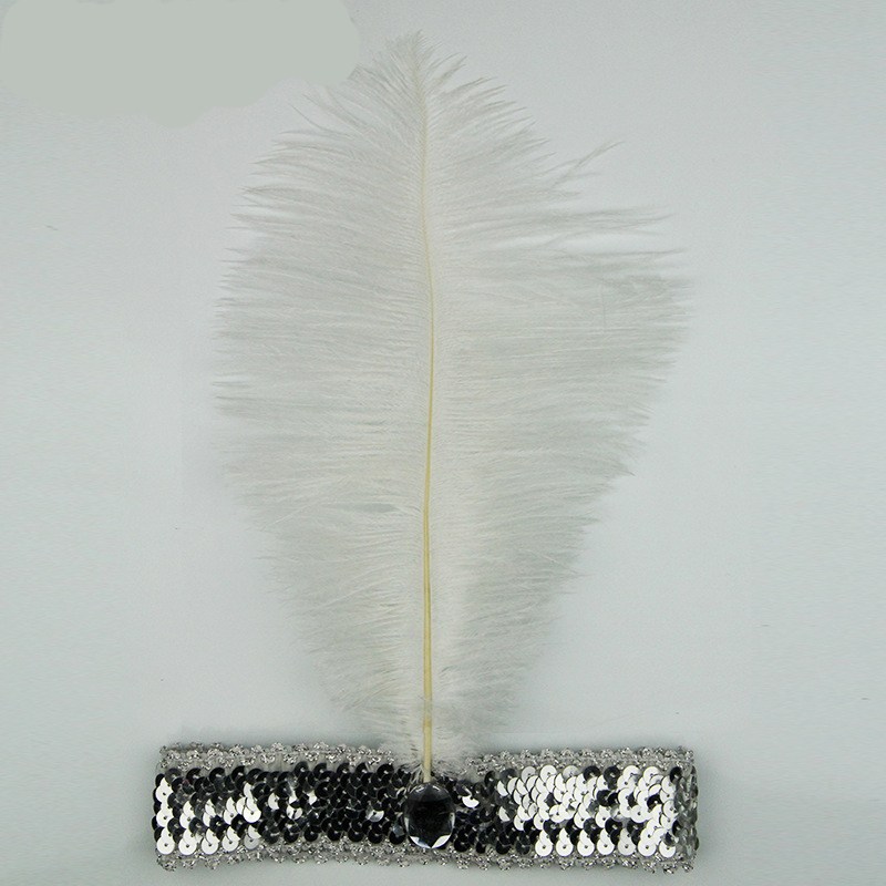 2019 Feather Headbands Flapper Sequin Charleston Dress Accessories Costume Hairband Headpiece Women Ladies Fashion Party Jewelry Fashion Accessories