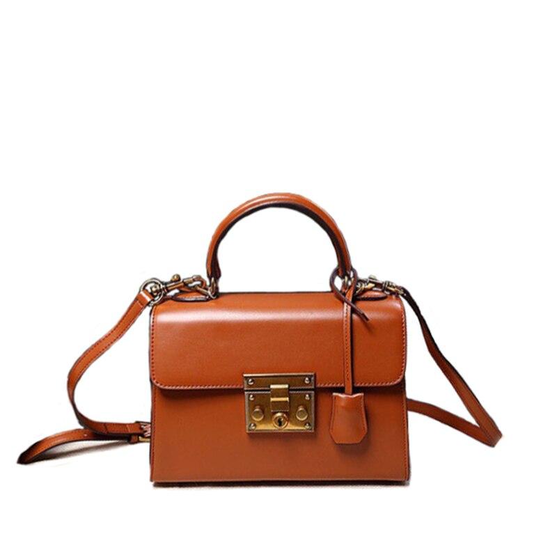 ФОТО New 2017 Designer Vintage Satchels Bags Women Retro Tote Classic Split Leather Handbags Ladies Messenger Bag For Female an499