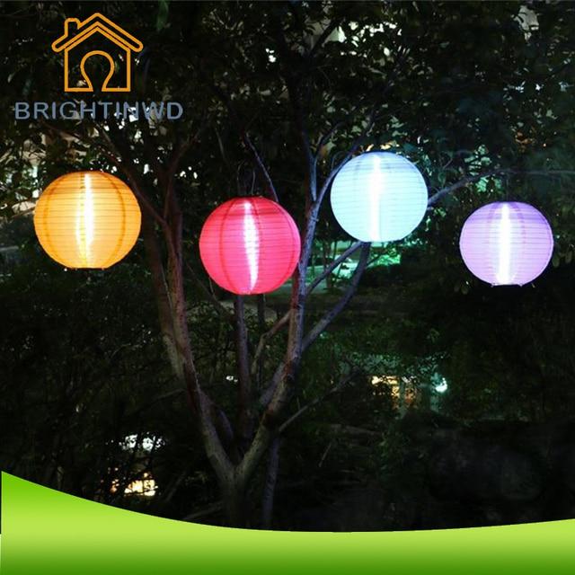 BRIGHTINWD 30 cm Diameter Waterdichte Nonwovens Solar Lantaarn LED ...