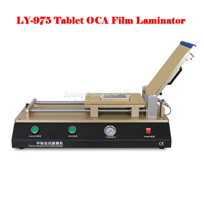 LY 975 Build-in pump,Semi-Auto Vacuum OCA film laminator for big size screen work, free tax to RUSSIA semi auto lcd repair machine ly 948v 3 oca pack c for 7 inch free tax to europe