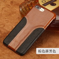 LANGSIDI Phone Case Snake Skin Fight Wax Leather Back Cover Case For Iphone 6P Mobile Phone