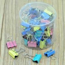 Pince en métal 60 PCS/lot 15mm coloré métal liant Clips trombone bureau papeterie reliure fournitures r60(China)