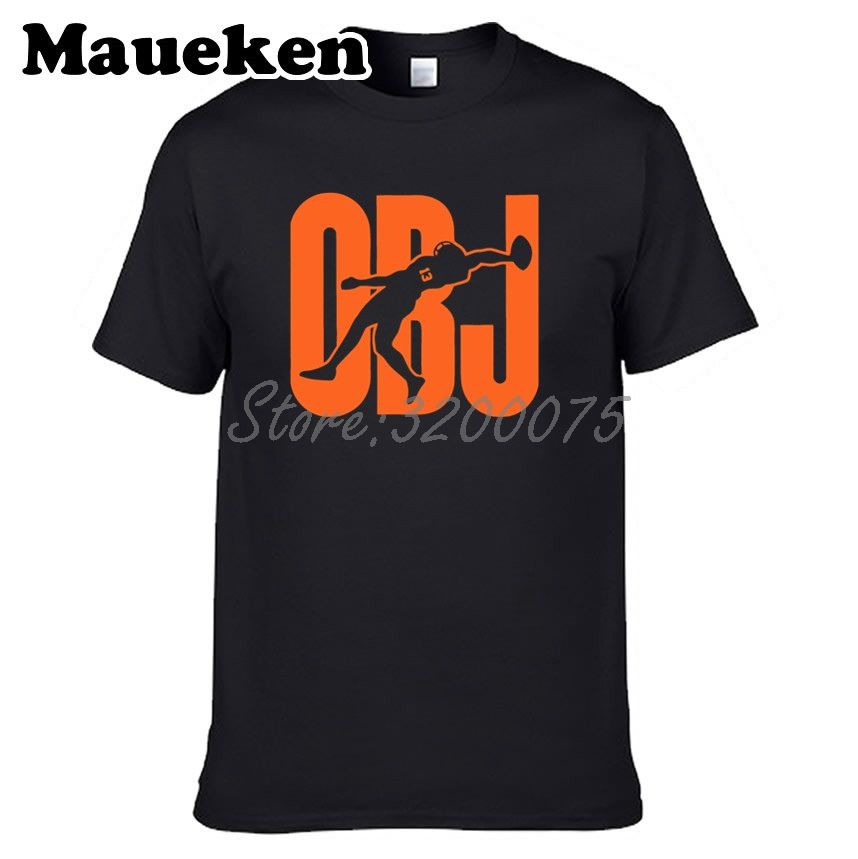 new product ee94e 3c181 US $18.88 |Men Odell Beckham Jr. 13 OBJ Cleveland T shirt Clothes T Shirt  Men's tshirt o neck tee W19031013-in T-Shirts from Men's Clothing on ...