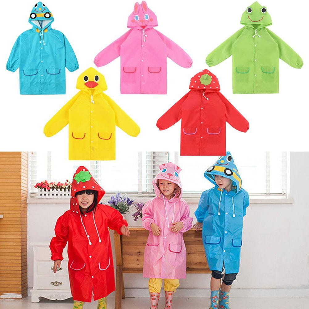 Waterproof Kid Raincoat For Rain Cover Children Poncho Cartoon Rainsuit Animal