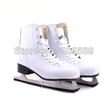 бесплатная доставка лед скейт обувь белый цвет #33---#42