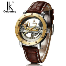 Ik for mens watch strap double faced cutout fully-automatic mechanical watch sports male watch 98393g