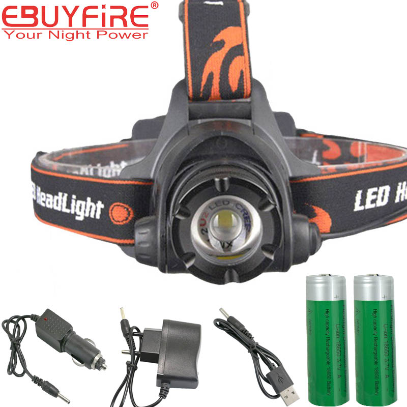 CREE L2 zoom Headlamp LED 18650 Head light Retractable waterproof Lamp XML-L2 U2 lights by 2x18650 фонарик 10 xml l2 l2 2500lm 5 18650 3xaaa