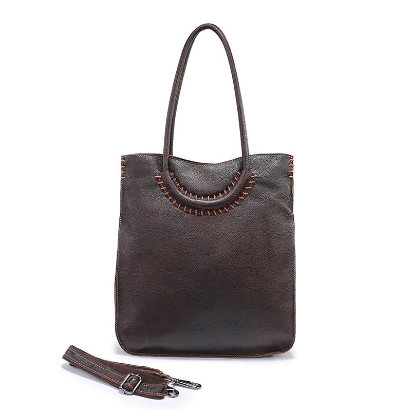 Nuleez Italian Leather Bag Real Women Shoulder Handbags Red Genuine Kraft Crossbody Female 1205 In Top Handle Bags From