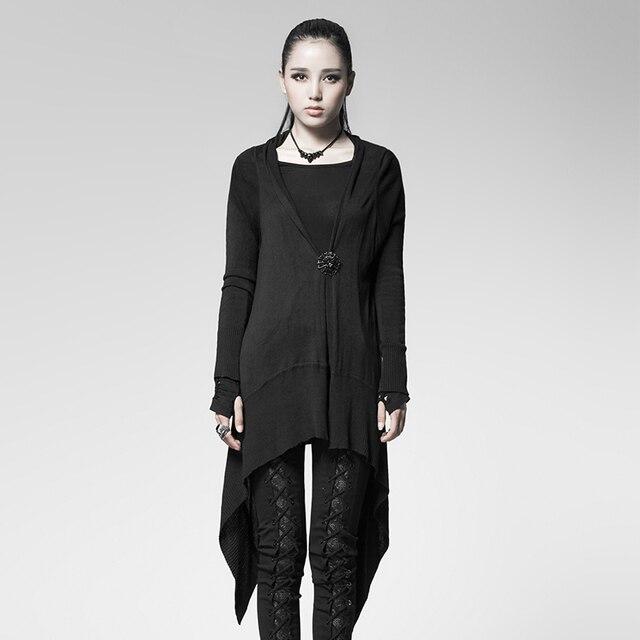 b5969cea34ec € 36.17 20% de DESCUENTO|Steampunk Gothic Spider Web cardigan para mujeres  moda casual negro chaqueta Abrigos en Chaquetas básicas de La ropa de ...