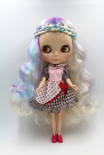 Blygirl Doll Colorful color hair Blyth body Doll Fashion can change makeup