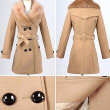 Faux Fur Patchwork Woolen Jackets