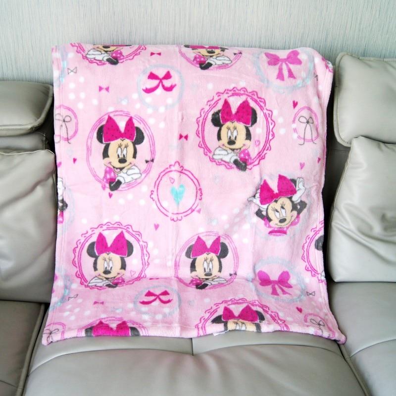 Disney Minnie Mouse Mermaid Ariel Baby Boy Girl Birthday Gift Soft Flannel Blanket Towel Winnie 75x105cm Pet Throws Gift Packing