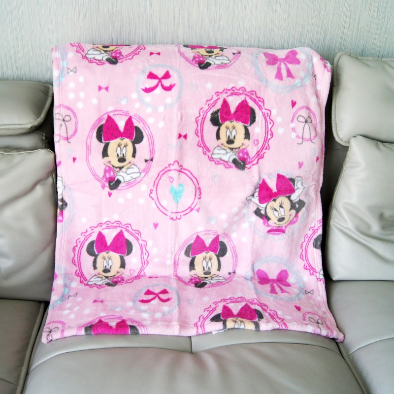 Disney Minnie Mouse Mermaid Ariel Baby Boy Girl Birthday Gift Soft Flannel Blanket Towel Winnie 75x105cm Pet Throws Gift Packing