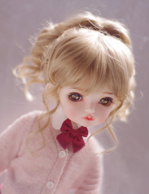 все цены на BJD doll wigs milk tea brown high pony-tail wigs for 1/3 1/4 1/6 1/8 BJD DD SD MSD YOSD doll Imitation mohair wigs