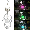 WSFS Hot Sale Solar Powered Spiral Wind Spinner With Colour Changing LED Light