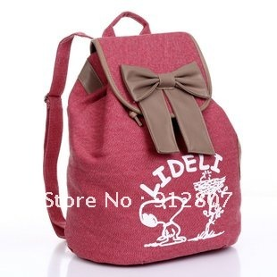 Aliexpress.com : Buy 2012 New four color leisure backpack cute bow ...