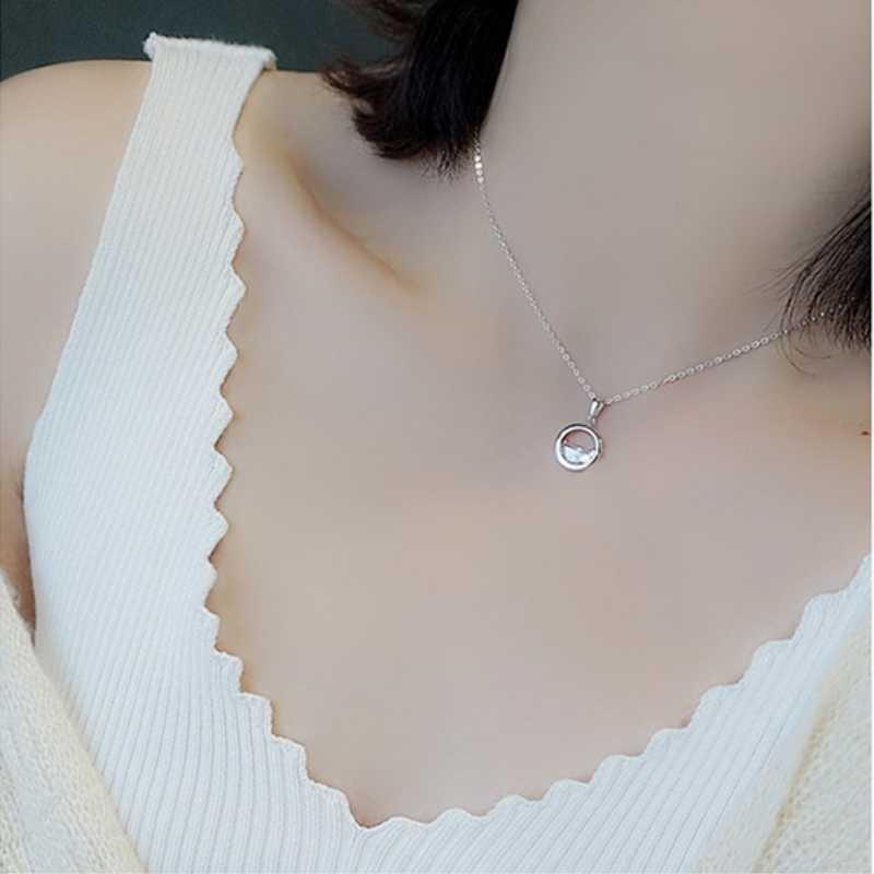Clavicule chaîne frais Simple étudiant forêt cadeau 925 en argent Sterling tempérament personnalité mode femme collier SNE053