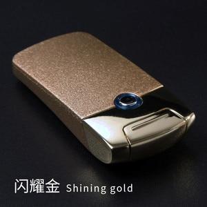 Image 4 - עוצמה USB אלקטרונית נטענת מצית ברזל איש מארוול סיגריות פלזמה סיגר קשת Palse רעם מצית דופק