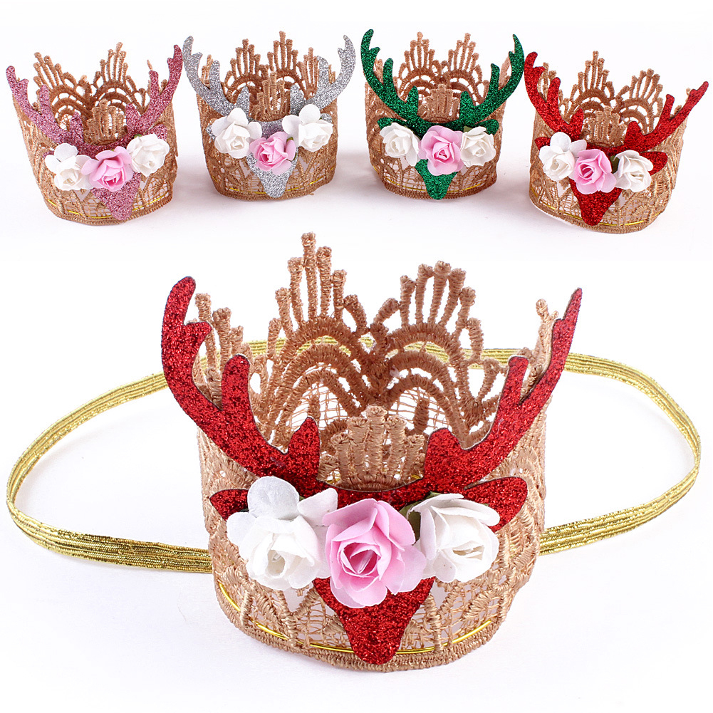 New Headset Hair Accessories Christmas Gift Handmade Christmas Headdress Hair Headband 2017 fashion new style
