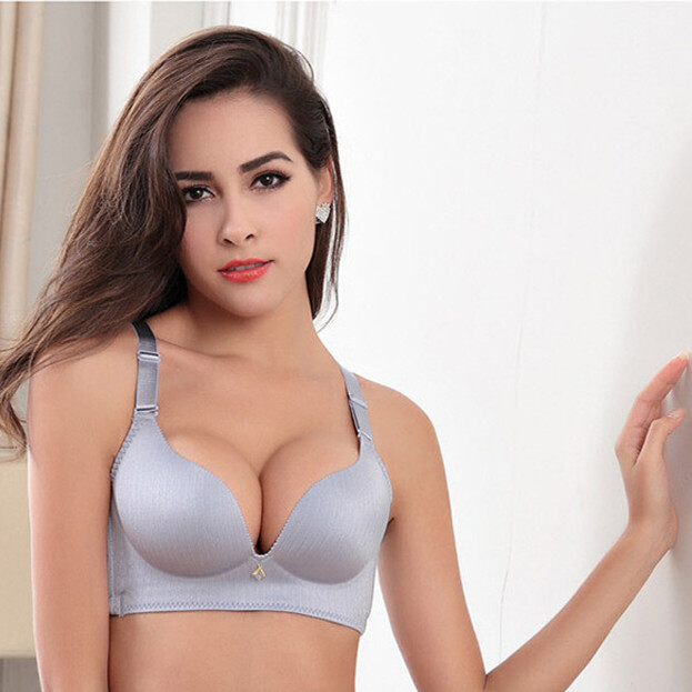 Hot New Sexy Seamless Bra Gather Adjustable Wire Free Push Up Massage Bra Seamless Underwear For Women Plus Size 85c 90c In Bras From Womens Clothing
