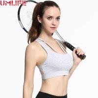 UMLIFE Hot vrouwen Shockproof Sportbeha Push Up Vrouwen Fitness Padded Yoga Bras Gym Running Tank Tops Mooie Terug Sport beha