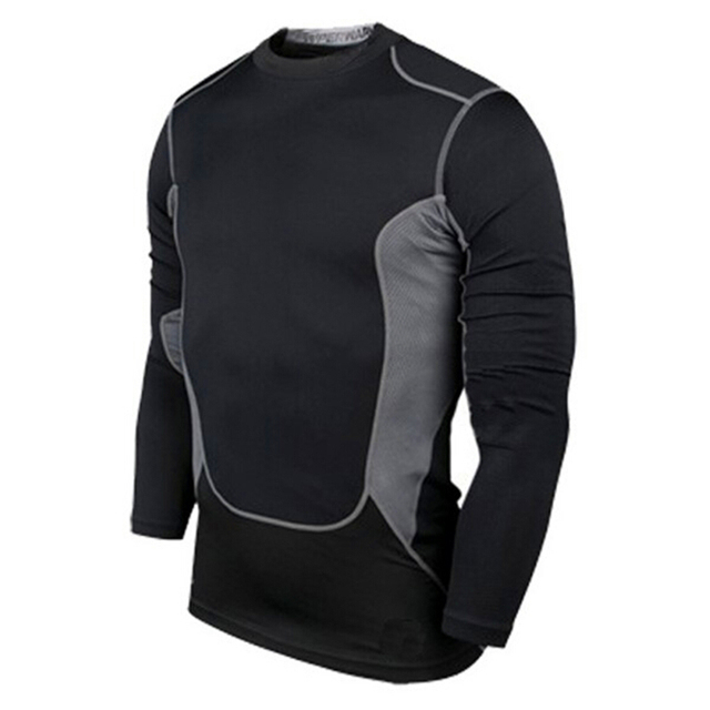 Cozy Men s Quick Dry Compression Base Layer Sports Wear Long Sleeve Blouse Athletic  Tops Gear Jersey Sportswear 93731b26f