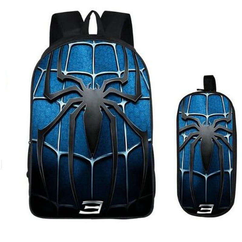 16 Inch Kids Backpack Spideran Into The Spider-Verse Children School Bags For Boys Orthopedic Child BookBag Knapsack Mochila