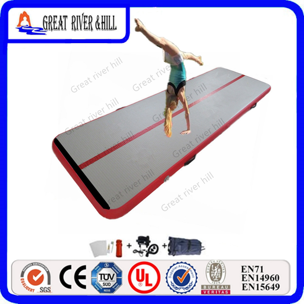 Inflatable children gym air floor 5m Long gymnastics equipments airtracks r001 crazy price pvc 5 5m long inflatable air tight arch