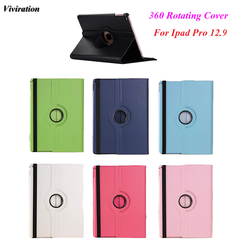 Flip Case For iPad Pro 12.9 Smart 360 Degree Rotating Stand Cover Luxury PU Leather Tablet Case Wholesale High Quality Cover fineshow for ipad pro 9 7 inch tablet case 360 rotating fashion pu leather flip case folio stand screen protective smart cover