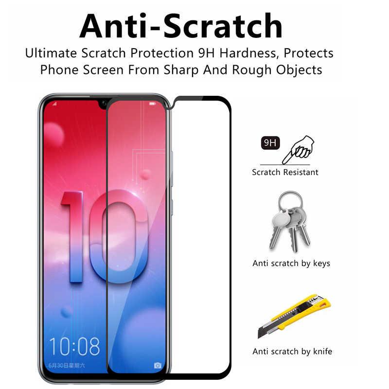 Kapak cam Için Huawei Onur 10i 20 10 Lite 8X 8C 8A Koruyucu Cam Huawei P Akıllı 2019 PSmart x8 Honor10i Tam Tutkal Cam