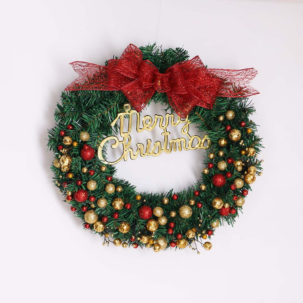 Hot sale Christmas wreath round Handcrafted New Year ...