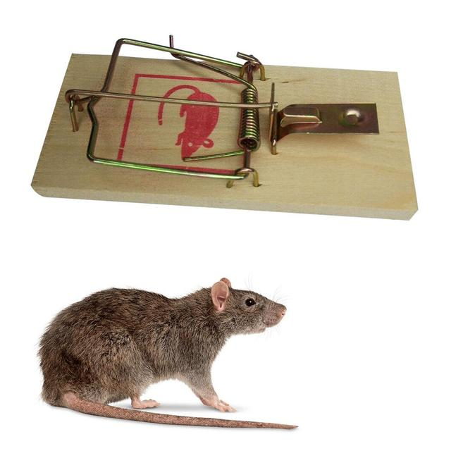 Reusable Wooden Mouse Traps Bait Mice Vermin Rodent Pest Control Mousetraps Trap Home Garden Outdoor Use