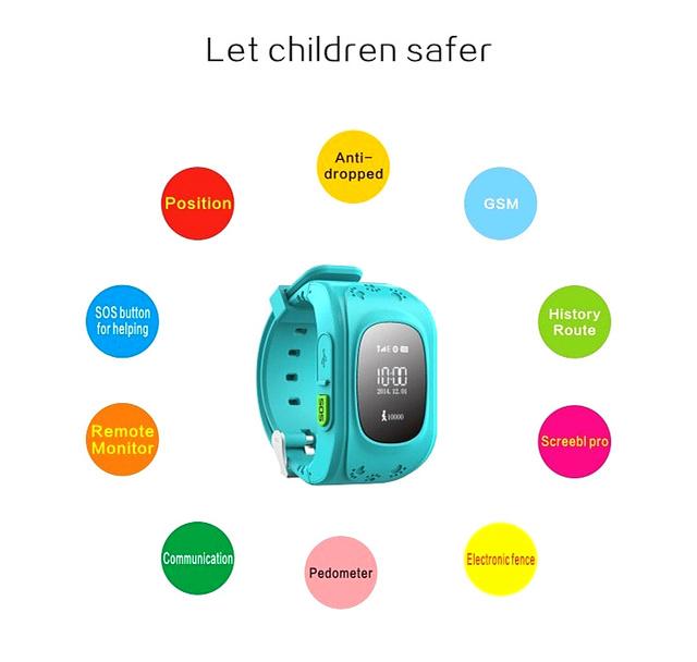 Children Safe Kids Inteligentes Relógios Para Android IOS GPS SOS alarme Anti-Criança Perdida Smartwatch H01/Q50