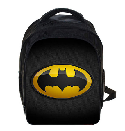 13 Inch Batman Superman Kindergarten Backpack Kids School Bags For Boys Daily Backpacks Children Hero Spiderman Bookbag building blocks brinquedos model set figures toys batman super heroes movie joker s car compatible with lego