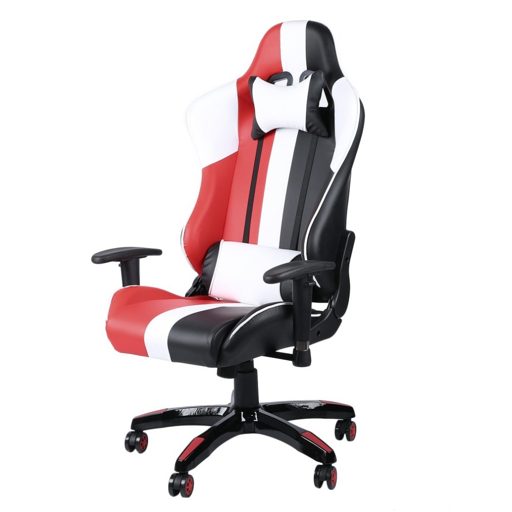 Racing Seat Office Chair 360 Degree Swivel Leather Office Boss Chair High Back Racing Seat Adjustable Height Game Chair Ergonomic Computer Gaming Chairs