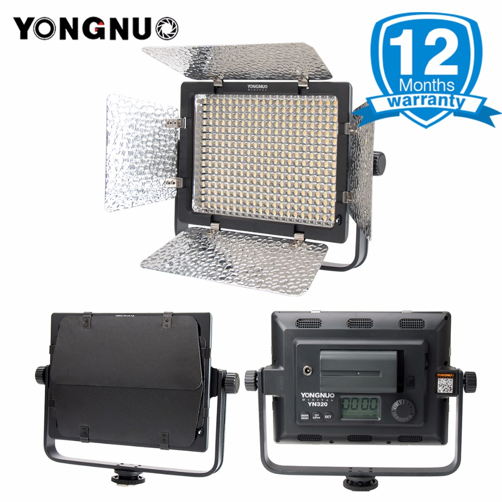 2018 YONGNUO YN320 Photo Studio LED Panel Video Light with Stand Holder High Brightness Video Light for Canon Nikon DSLR Camera 2018 yongnuo yn320 photo studio led panel video light with stand holder high brightness video light for canon nikon dslr camera