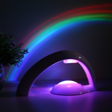 Novelty LED Colorful Rainbow Night Light Romantic Sky Rainbow Projector Lamp luminaria Home bedroom light