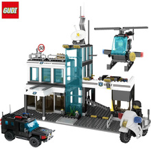 GUDI City Police building blocks Special forces SWAT commando Figure toys compatible legoe block gift toy for children boys