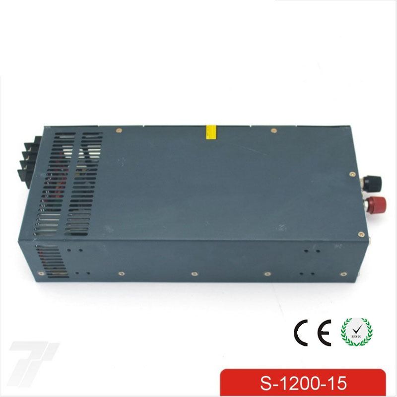 CE Soro 110V INPUT 1200W 15v 80A power supply Single Output Switching power supply for LED Strip light AC to DC UPS ac-dc 1200w 12v 100a adjustable 220v input single output switching power supply for led strip light ac to dc