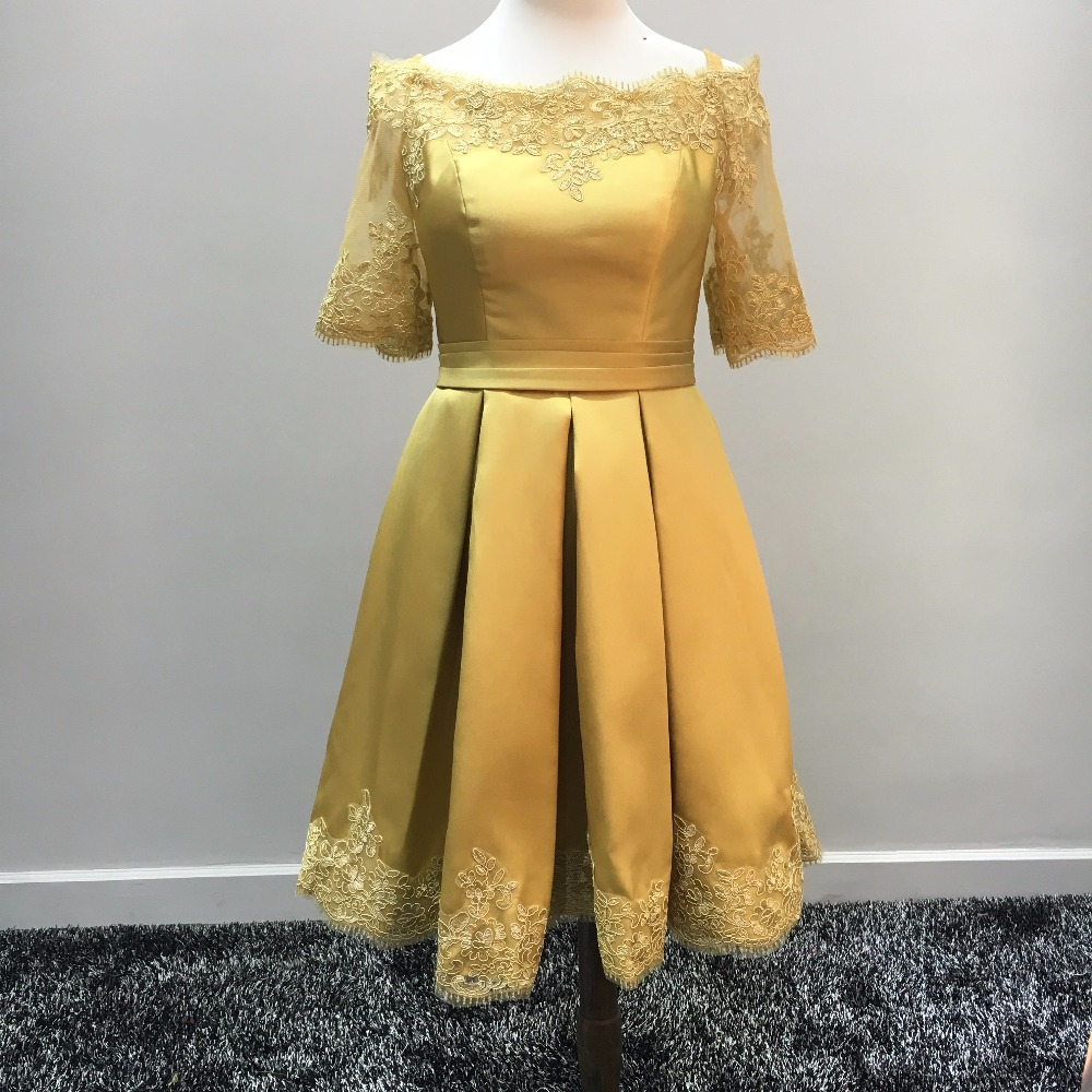 Online Get Cheap Gold Satin Cocktail Dress -Aliexpress.com ...