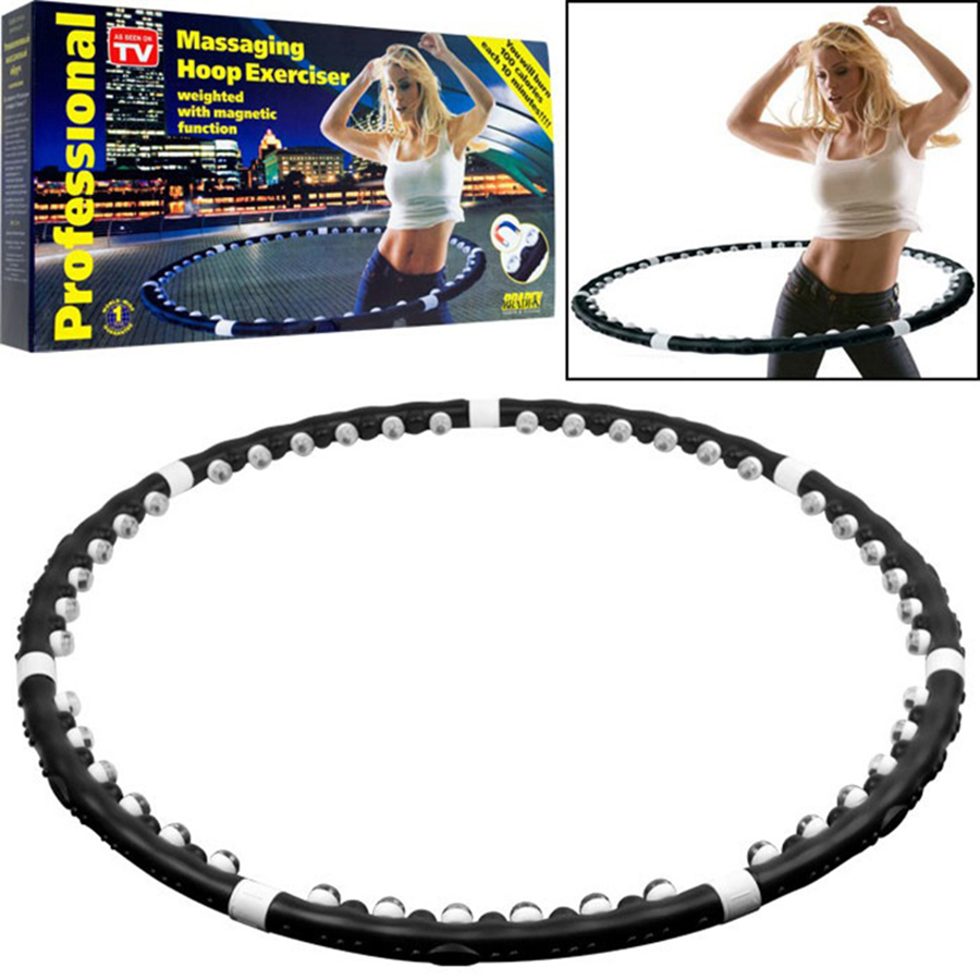 Magnet Massage Sport Hoops Detachable Adjustment Ring Tube Circle Women Waist Massage Bodybuilding Workout Fitness Equipment