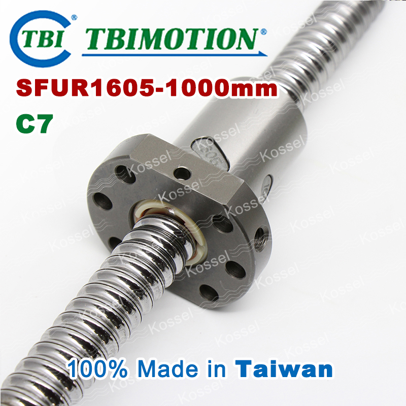 TBI ballscrew 1605 C7 1000mm ball screw 5mm lead with SFU1605 ball nut with end machined for high stability CNC diy kit SFU tbi dfi 2505 600mm ball screw milled ballscrew and end machined for high stability linear cnc diy kit