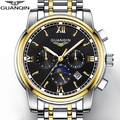 GUANQIN GJ16040 Top Luxury Brand Mechanical watches Men Fashion Waterproof Luminous Watch Calendar Moon Phase relogio masculino
